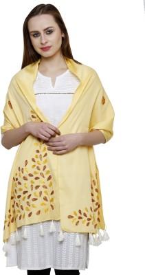 Uniscarf Embroidered Cotton Silk Blend Women's Stole