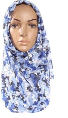 Muslimkart Floral Print Polyster Women's Scarf