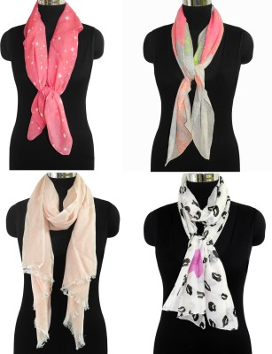Fabtone Printed Cotton, Polyester Women's Scarf