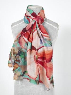 Shawl Art Self Design Silk Wool Women's Stole