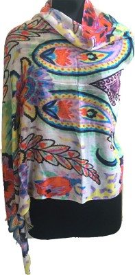 J R Shawls Printed Silk Modal Women,s Stole