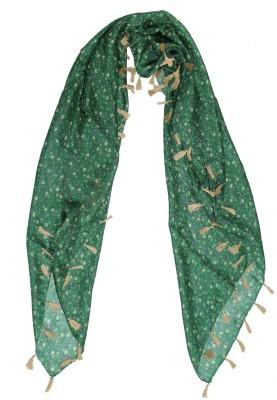 Shawls Of India Printed Silk Women's Scarf