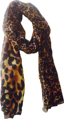 A NS Fab Animal Print Polyester Women's Scarf