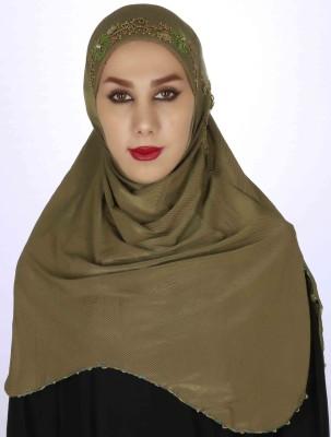 Islamic Attire Striped Lycra Women's Scarf