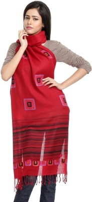 Aapno Rajasthan Embroidered 40% Pashmina, 60% Wool Women,s