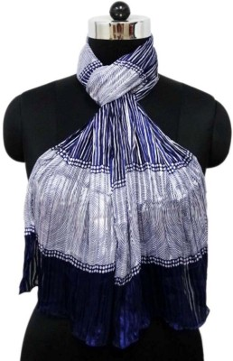 Otua Printed Poly Satin Stripe Women's Scarf
