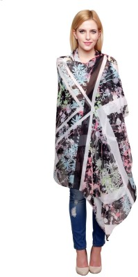 Chiktones Floral Print Polyester Women,s Stole