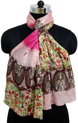 Otua Floral Print Poly Satin Stripe Women's Scarf