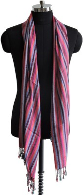 Weavers Villa Striped Viscose Womens Stole