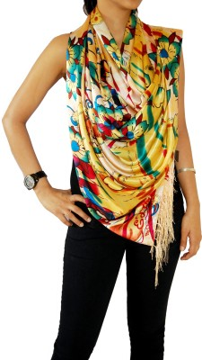 Ed Hardy Floral Print Cotton Women's Scarf