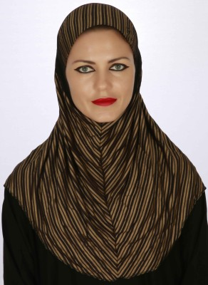 Islamic Attire Striped Cotton Lycra Women's Scarf