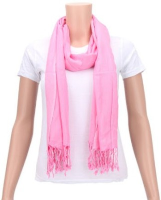 Glamorous Solid Cotton Women's Scarf