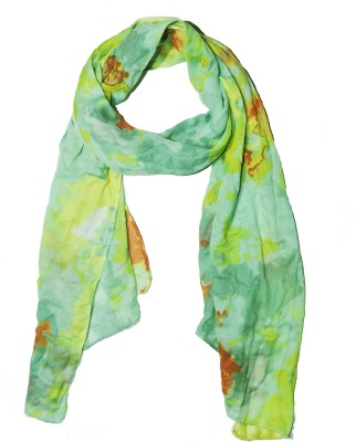 Weavers Villa Printed Trendy Scarves and Stoles Multicolor Premium Poly Cotton Summer Abstract Designer Women's Scarf