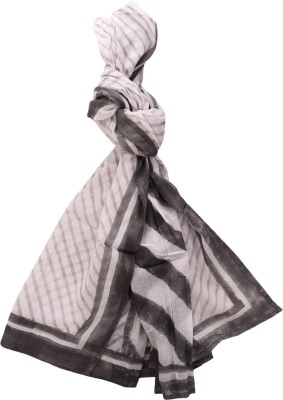 Raaga Textile Checkered Cotton Girl's Scarf, Stole