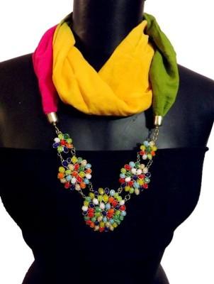 MyClosetNMore Solid, Embellished Cottom Blend Women's Scarf