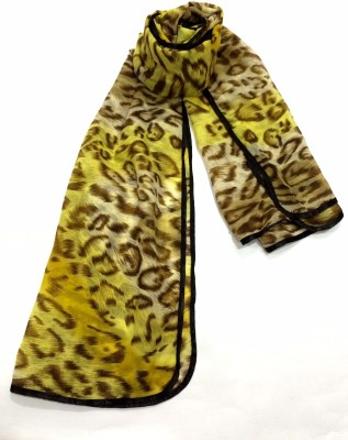 Rangbharey Animal Print Polyester Chiffon Women's Stole