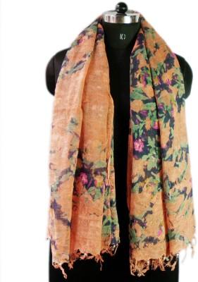 VR Designers Floral Print Linen Women's Stole