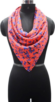 PromotionalClub Printed 100% Polyester Women,s Scarf