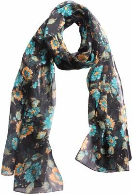 DIVAS CHOICE Floral Print polyester Women's Stole
