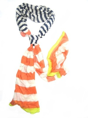 SAJAY FASHIONS Striped RAYON Women's Stole
