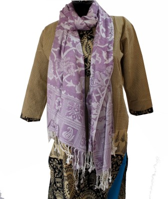 Baba Handicrafts Graphic Print Cotton-Pashamina Women's Stole