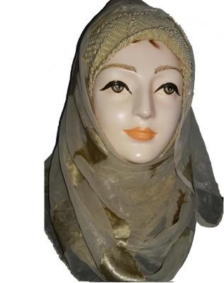 sana creations Self Design chiffon Women's Stole