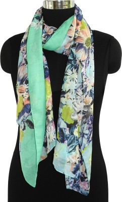 Fabtone Floral Print Polyester Women's Stole