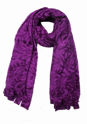 AS42 Floral Print, Solid Wool Women's Stole