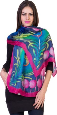 Crosstitch Printed Silk Women's Scarf