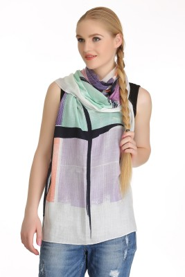 COOL THREADS Striped VISCOSE Women's Scarf