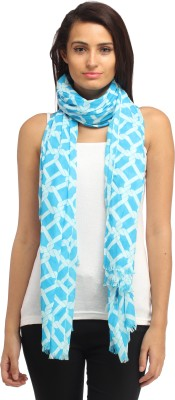 Needlecrest Checkered Cotton Voile Women's Scarf