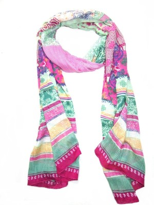 SAJAY FASHIONS Printed POLY COTTON Women's Stole
