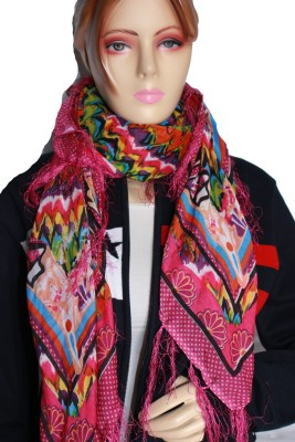 Dharamanjali Printed Georgette & Polyster Women,s Scarf