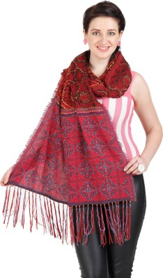 Shyam & Co. Of North Pvt. Ltd. Embroidered 75% Cotton 25% Wool Women's Scarf