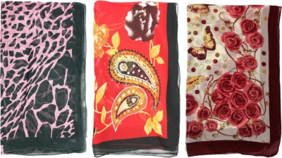 China Floral Print Polyester Women,s Scarf