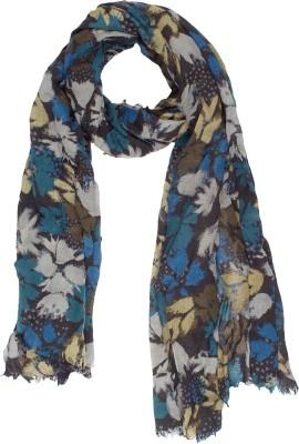 Amaryllis Graphic Print, Floral Print Wool Women's Scarf