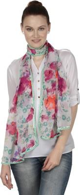 InSyync Floral Print Cotton Women's Scarf