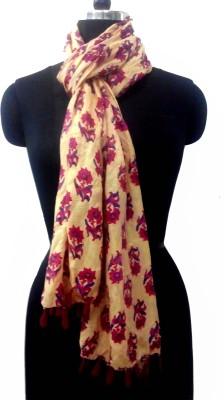 Akshat International Floral Print Silk Women's Scarf