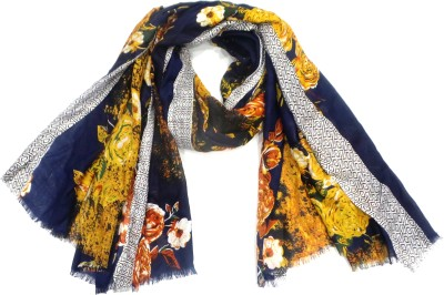 Zapia Floral Print POLYESTER Women's Scarf