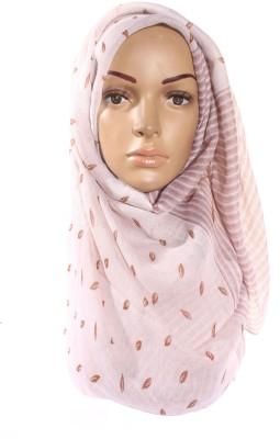 Muslimkart Floral Print Cotton, Polyster Women's Scarf