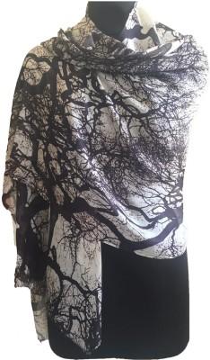 J R Shawls Printed Silk Modal Women's Stole