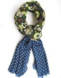 Wool Scarf Floral Print Pure Wool Women'...