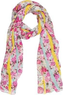 Amaryllis Floral Print Polyester Women's Scarf