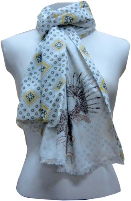 Dushaalaa Embroidered, Printed Cotton Womens Scarf