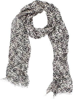 Amaryllis Graphic Print Cotton Silk Women's Scarf