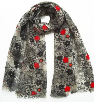 Garapa Embroidered Fine Wool Women's Scarf