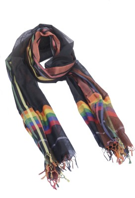 Kraftonomics Woven Silk Blended Cotton Women's Scarf
