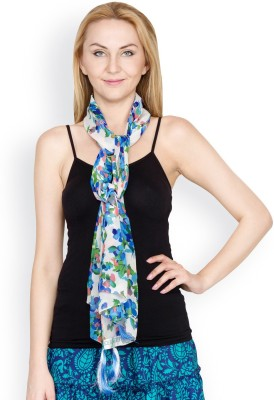 Famous by Payal Kapoor Floral Print Georgette Women's Scarf