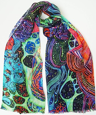 Garapa Printed Viscose Twill Women's Scarf