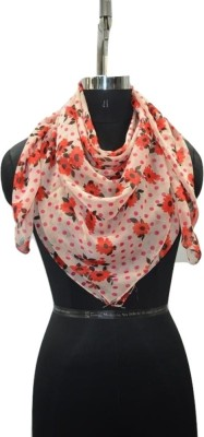 Promotional Club Floral Print 100% Polyester Women's Scarf